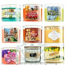 Bath and Body Works 14.5oz 3 Wick Jar Candle 96 Varieties! 3 Wick Candle Holders