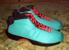 ADIDAS Crazy 1 Vivid Mint Blue Infrared Gr Basketball Shoes Sneakers NEW Mens 10