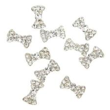 DIY Nail Art Tips 10pcs 3D Bling Rhinestone Charm Decorations Guitar Bow Flower