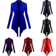 Womens Ladies Long Sleeve Waterfall Sweater Cardigan Jacket Coat Top 6 Colors