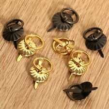 4/12Pcs Drawer Jewelry Wooden Box Dresser Cabinet Metal Ring Pull Handles Knobs