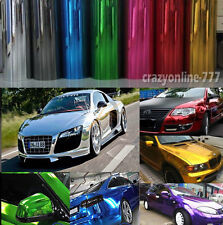 Hot Picked - Glossy Mirror Chrome Vinyl Car Wrap Film Sticker Sheet Bubbles Free