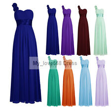 2016 Long One Shoulder Formal Prom Party Evening Bridesmaid Dress Stock Sz 6--20