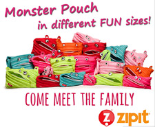 Zipit Monster 3-Ring Binder Pouch Coin Zipper Pencil Makeup School Supplies