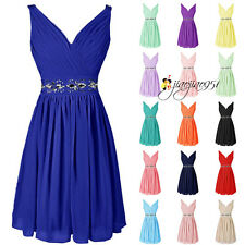 Stock Formal Short Bridesmaid Dresses Prom Party Evening Cocktail Ball Gown 6-20