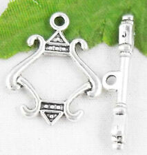 Free Ship 10Sets Tibetan Silver Nice Toggle Clasps 23x18mm