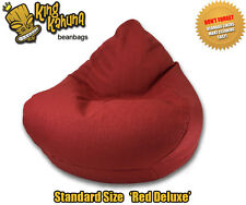 RED BEANBAG DELUXE CHAIR QUALITY NEW LARGE  LOUNGE SOFT GAMING CINEMA