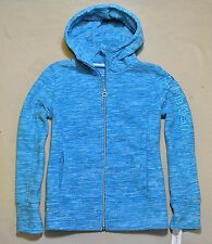 NWT WOMEN CALVIN KLEIN BLUE PERFORMANCE FLEECE ZIP UP HOODIE JACKET SZ MEDIUM