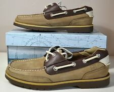 NIB MEN SPERRY TOP SIDER STINGRAY 2 EYE TAUPE BROWN SHOES SZ 7M