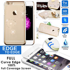 iPhone6 6s 6plus Diamond Crystal Hard Plastic Bling Cover+ Full coverage Film 3D
