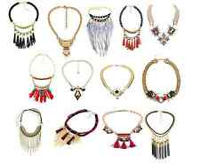 Fashion Women tassel Pendant Crystal Choker Chunky Statement Chain Bib Necklace