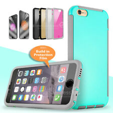 Rugged Dust Proof Case with Bult-in Screen Protector Cover for iPhone 5 &6S Plus