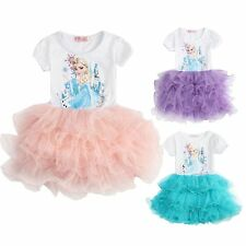 Flower Lace Graceful Tulle Princess Dress Holiday Summer Wedding Party Ball Prom