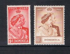 Dominicia 1948 Sc 114-115 Silver Wedding MNH