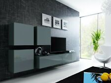 BMF VIGO 23 WALL CABINETS & CUPBOARDS TV UNIT SET HIGH GLOSS FRONTS