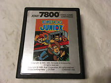 ATARI 7800 Prosystem Video Game Cartridge Donkey Kong JUNIOR by Atari 1986 Works