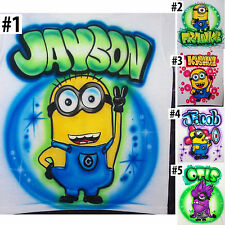 Airbrushed Personalized Despicable Me Minion T-shirt Bodysuit Hoodie Pillowcase