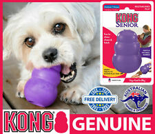 KONG Classic Senior Interactive Dog Toy - Rubber Chew Treat Dispenser Old Dog