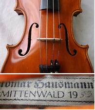 OLD GERMAN MASTER VIOLIN MITTENWALD 1953 - VIDEO - ANTIQUE バイオリン скрипка 小提琴 424