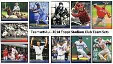 2014 Topps Stadium Club Baseball Team Sets ** Pick Your Team Set **