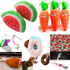 Dog Puppy cat Pet Chew Play Squeaky Sound Plush Vegetable Toys Chaser Wand cute