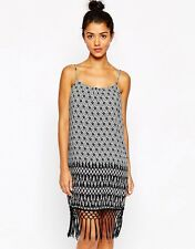 Style London Printed Festival Dress with Fringe Hem! ASOS! Size XS!