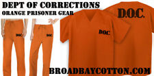 JAIL COSTUME Prisoner Suit JAIL DOC COSTUME - NEW ORANGE DOC UNIFORM!
