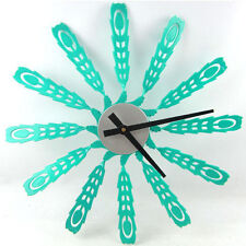 Peacock Wall Clock Creactive Home Decoration Watch Windmill Unique Gift 15.7""