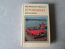 The Observer's Book of AUTOMOBILES John Blunsden - 1980