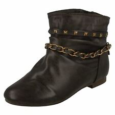 Girls H4053 Brown synthetic pull on ankle boot by CUTIE sale