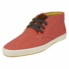 Mens ROD Coral Canvas Lace up ankle boot By Base london FISH N CHIPS