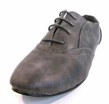 Ladies F8711 Grey Synthetic Brogue Lace-Up Shoe by Spot On