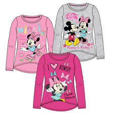 Girls Minnie Mouse long sleeve top Light Pink, Dark pink or Grey by Disney