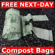 100% Compostable 15L Biodegradable CADDY LINERS Food Waste Compost Kitchen Bag