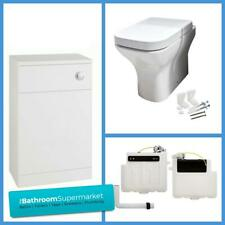 Modern Toilet Soft Close Seat Short Projection Back to Wall Toilet Compact WC
