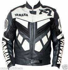 YAMAHA R1 Leather Jacket Motorbike Racing Leather Jacket Men Motorcycle Jacket