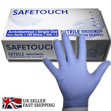 Blue Disposable 100 Pack Non Sterile Nitrile Powder Free Gloves AQL 1.5
