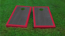 Premium Red Border Onyx Stained Cornhole Board Game Set