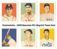 1949 Bowman Pacific Coast League (PCL) Reprints Sets ** Pick Your Team Set **