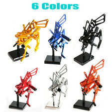 New CNC Adjusty Rearsets Foot Pegs Fit YAMAHA YZF R6 2003-2005 6 Colors Racing