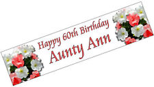 PERSONALISED BANNERS NAME AGE PHOTO BIRTHDAY PARTY 50th 60th 70th 80th pink P1