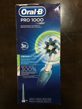 *NEW* Oral-B PRO 1000 ELECTRIC RECHARGEABLE TOOTHBRUSH Blue/White *FREE SHIPPING