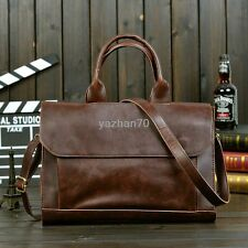 New Men's Faux Leather Messenger Business Briefcase Attache Laptop Shoulder Bag