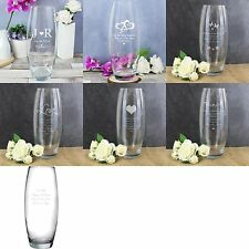 Personalised Engraved Bullet Glass Vase - 7 designs, Birthday, Mothers Day Gift