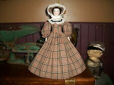 """antique style doll dress and bonnet for a 14""""-15"""" china head doll french fashion"""