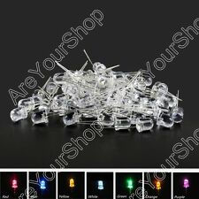 8mm/10mm LED Multi Colour Waterclear Ultrabright Light Emitting Diode Lamp Round