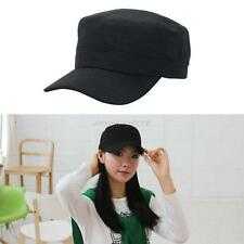 Womens Men Adjustable Army Plain Hat Cadet Military Cadet Baseball Sport Cap Hot