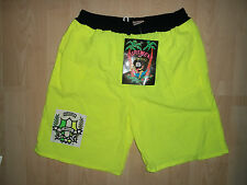 Original Vintage 1980s Bermuda Surfwear Neon Yellow shorts new! Rare!! BM0006