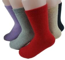 2 Pairs Girls' Women's Extra Thick Cashmere Wool Socks Solid Color+Free S/H!