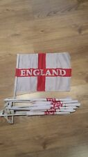 England Car Flags English St Goerge Football Rugby Sports Flag Pack of 10